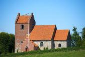 A photo of a small Danish church — Stock Photo