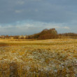 A panorama photo of early winter landscape — Stock Photo