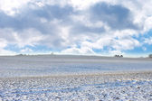 A photo of the countryside in early winter — Stock Photo