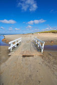 A photo a Road on the beach - Jutland, Denmark — Stock Photo