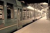 Una foto del treno urbano — Foto Stock