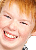 A photo of a charming boy with red hair — Stock Photo