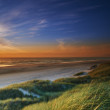 Stock Photo: Photo of sunset at coastline of Jutland, Denmark