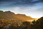 Görünüm oniki havariler dağ zinciri, cape town, güney afrika — Stok fotoğraf