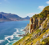 Hout bay view from chapman's peak, Cape Town area, south africa — Stock Photo