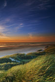 A photo of sunset at the coastline of Jutland, Denmark — Stock Photo