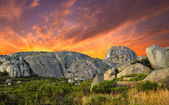 A photo sunset at mountain top, Lions Head, in Western Cape, South Africa — Stock Photo