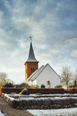 A photo of a Danish church in wintertime — Stock Photo