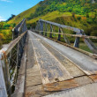 A photo of a Small bridge in New Zealand - Stock Photo