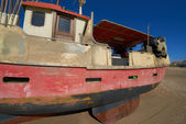 A photo of a Danish fishing boat at the beach — Photo