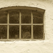 A photo of an old window in an old farmhouse — Stock Photo