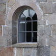 A photo of an old church window — Stock Photo