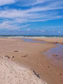 A photo of beach sunrise - Jutland, Denmark — Stock Photo