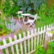 A photo of a colorful Danish summer garden - 