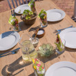 An image of a White Fine Table Setting. summer — Stock Photo #19857505