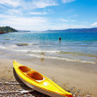 A Kayak on the beach - New Zealand, Karaka Bay — Stock Photo