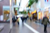 モーションの写真のぼやけ都市生活 — ストック写真