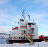 A photo of small Norwegian harbor — Stock Photo