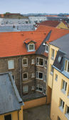 A City scape of old houses in Aalborg, Denmark — Stock Photo