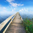 A landscape pier and lake - Stock Photo