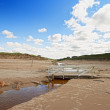 Stock Photo: Photo Road and bridge on beach - Jutland, Denmark