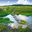 Stock Photo: A landscape photo of a small river - Rebild, Denmark