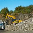 A photo of a granite quarry — Stock Photo