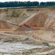 Stock Photo: A photo of a Conveyor on site at gravel pit hill