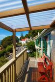 Una foto del balcón vista mar — Foto de Stock