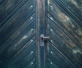 A photo of a very old blue door - Church — Stock Photo