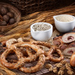 Stock Photo: Tasty pretzels