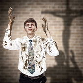 At the cross — Stock Photo