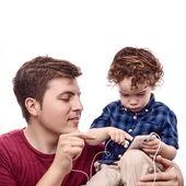 Enseñar a su hijo — Foto de Stock