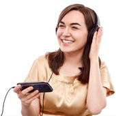 Happy listener — Stock Photo