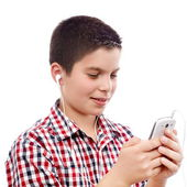 Young boy on internet — Stock Photo