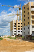 Apartment building under construction — Stock Photo