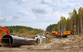 Construction of gas pipeline — Stock Photo