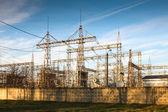 Transmissão de energia elétrica — Foto Stock