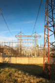 Transmission of electricity — Stock Photo