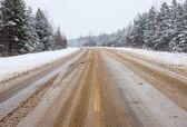 冬の道 — ストック写真