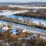 Railroad cars, tanks, oil, Russia — Stock Photo #37743937