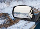 Car mirror — Stock fotografie