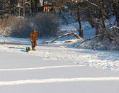 Winter fishing — Stock Photo