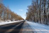 дорога в зимний период — Стоковое фото