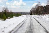 Farliga vinterväg — Stockfoto