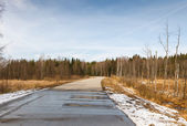 Asphalt road countryside — Stock Photo