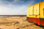 Quarry for sand mining — Stock Photo