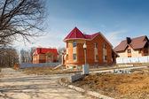 Cottage village under construction — Stock Photo