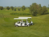Golf cars — Stock Photo