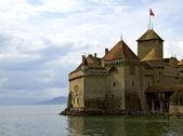 Château de chillon en el lago lemán — Foto de Stock